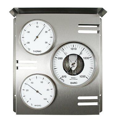 Handmade in Germany TFA 108mm Beech Barometer /& Thermometer Weather Station