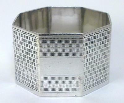 Vintage hallmarked Sterling Silver Napkin Ring (not inscribed) – 1942  (34g) -1