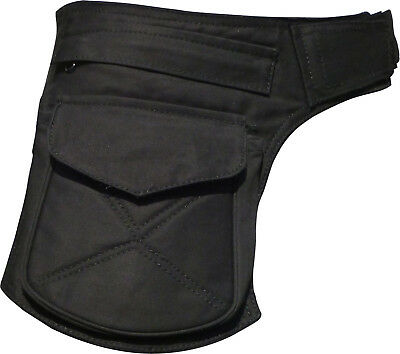 Utility FESTIVAL Waist Pocket Belt Travel Hip Bag Black