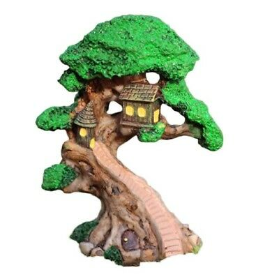 Elf Tree House Miniature Fairy Garden Home Houses Decoration Mini Craft Micro