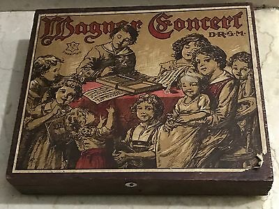Antique Wooden - Wagner Concert Xylophone Vintage Music Toy Box - Drgm Germany
