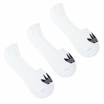 99bbb6b1ea5c New Mens adidas White 3 Pack No Show Cotton Polyester Socks Trainer Liner