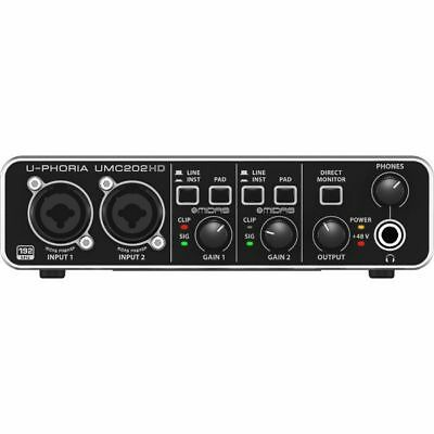 Behringer UPhoria UMC202HD Audiophile USB Audio Interface With Tracktion 4 So...
