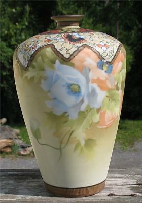 """NIPPON""   JAPANESE FINE CHINA CABINET VASE with MORIAGA DECORATION"