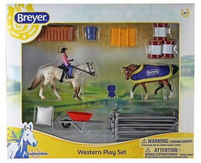 Breyer Stabemates Western Horse Toy Model Play Set for Ages 4+ Kids, 6026 New