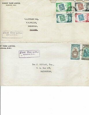 Stamps,Barbados , 4 envelopes as First Day Covers sent to Barbados