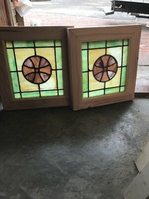 SG 2255 priced each two available Stainglass window 14 x 15