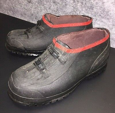 SERVUS BY HONEYWELL Black Overshoes Men's 12 / 2-Buckle Rubber Boot Shoes C1