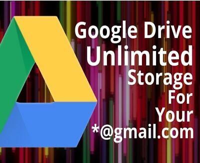 Unlimited Google Drive Storage For Current / New Google Account
