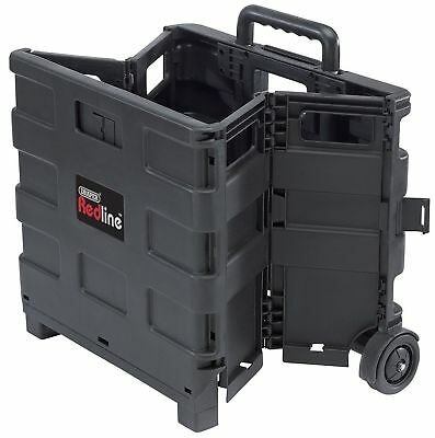 Folding Storage Box Crate Shopping Trolley Boot Cart 25KG Foldable Fold Up