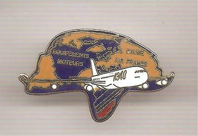 Pin's pin COMPAGNIE AERIENNE AIR FRANCE EQUIPEMENTS MOTEURS A 340 (ref CL28)