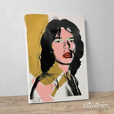 Andy Warhol - Mick Jagger - Stampa Fine Art su tela Canvas POP ART