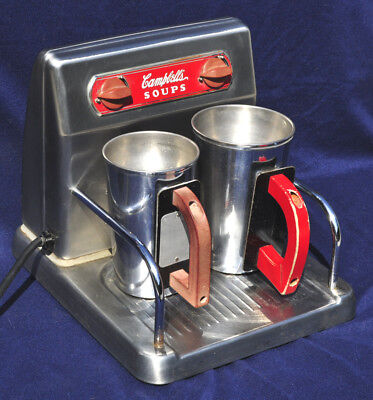 Vintage 1940S-50S Campbells Soup Warmer From Diner Or Lunch Counter Works!