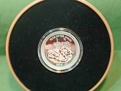 Niue Year of the Snake, 2013 $1 Proof 1/2 Oz Silver