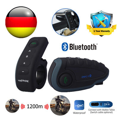 Motorrad Sprechanlage Gegensprechanlage Bluetooth Intercom Helm Headset 1200M
