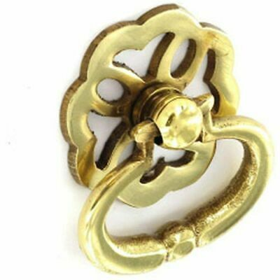Securit Brass Ring Pull Handles Fancy (2) 38mm - S2634