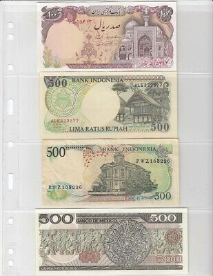 Modern Currency / Stamp Album Pages Lighthouse Vario 4C 4 Rows Pack of 5 Clear