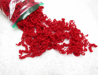 Red Curly Yarn Hair for Your Handmade Dolls and Crafts
