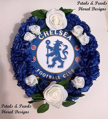 Chelsea Football Club Funeral Wreath Grave Memorial Tribute Artificial Flowers