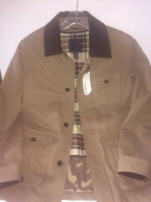 Brooks Brothers Jacket Coat Mens Field Removable Liner Medium NWT