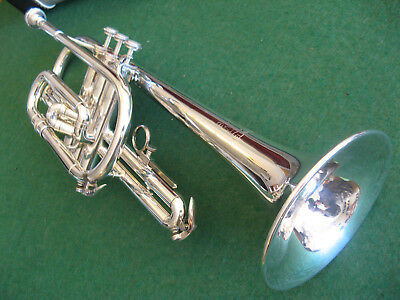 Blessing Artist Model Cornet Silver - Refurbished & Ready - Nice Case and MP