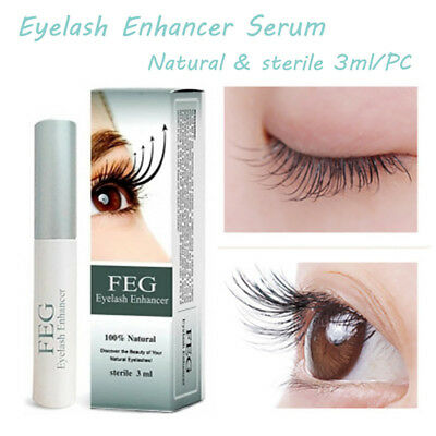 FEG Eyelash Enhancer Eye Lash Rapid Growth Serum Liquid 100% Natural 3ml