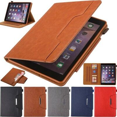 For iPad 5th 6th Gen Mini Air Pro Business Style Smart Stand Leather Case Cover