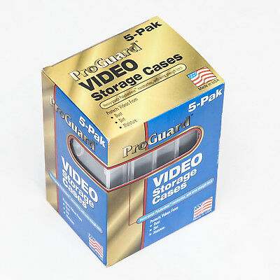 Proguard VHS Tape storage Cases Labels Pack 5 Clear Plastic VCR Made in USA NEW