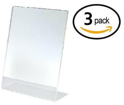 T'z Tagz Brand 8.5 X 11 Inches Plexi Acrylic Sign Holder 3 PACK!!! - Single...