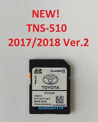 2018! TOYOTA TNS 510 Ver.2 Navigation SD Card EUROPE SAT NAV MAP UPDATE LATEST