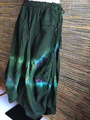 Lot of 2 COTTON STONEWASH TIE DYE ASYMMETRICAL SKIRTS.Very good quality.Unique.