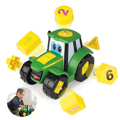 John Deere Learn & Pop Johnny Interactive/Car/Toy/Kids Truck Play/Puzzle Shape