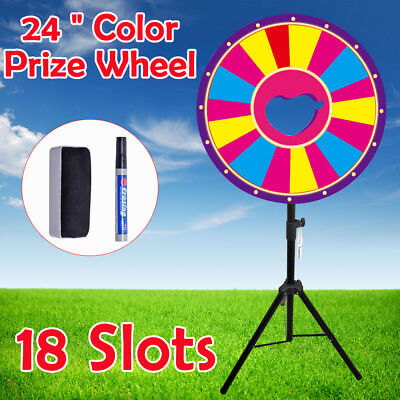 "24"" Color Prize Wheel of Fortune Trade Show Tabletop Spin Game USA Stock"