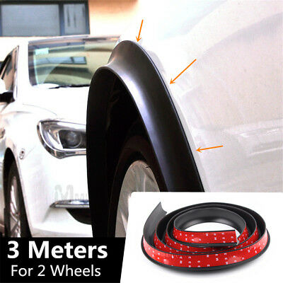 """118"""" Universal Car Wheel Fender Extension Rubber Moulding Flare Trim Protector"""