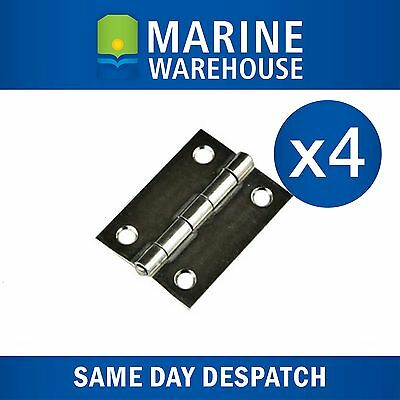 4x Stainless Steel Butt Hinges  - 304 Grade SS Marine 407094EB