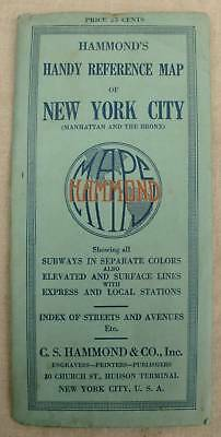 Alter Stadtplan New York City 1927 Handy Reference Map Manhattan and the Bronx