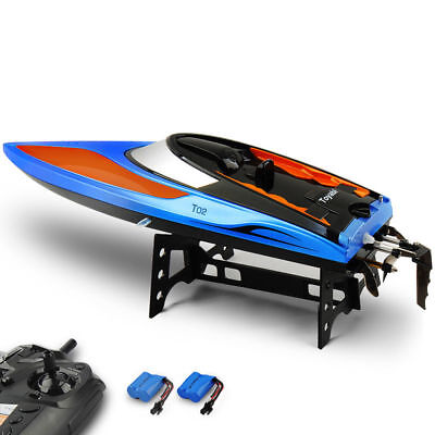 Toyabi 2.4G Water Cooling RC Boat High Speed Remote Control Racing+2 Batteries