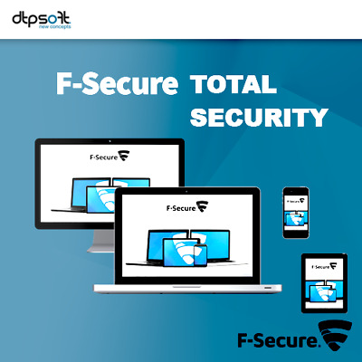 F-Secure Total Security & Privacy 2020 5 Appareils 5 PC 2 ans Antivirus FR EU
