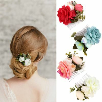 Bridal Flower Hair Comb Floral Hairpin Wedding Accessories Girl Hair Jewelry