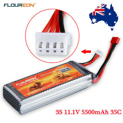 3S 35C 11.1V 5500mAh LiPo Battery Deans Plug for RC Car Truck DJI Airplane Hobby