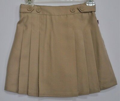 CHAPS Girls Pleated Khaki Skorts 10 Reg - Approved Schoolwear - New with Tags