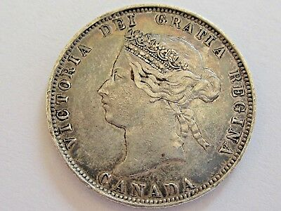 1872-H 25C Canada 25 Cents Nice Details