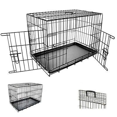 """Small Pet Cage 24"""" Pet Cage With Plastic Removable Tray Easy For Transport S247"""