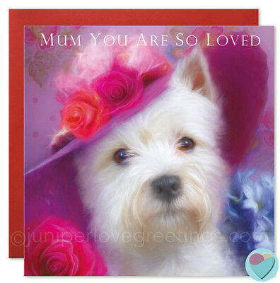 Birthday Card White Dog Westie Lover Daughter In Law Wife Gran