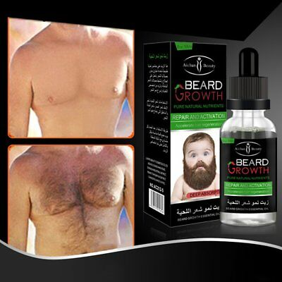 Beard Mustache Chest Hair Growth Essence Liquid Thicker Oil Enhancer 40ml HOT G#