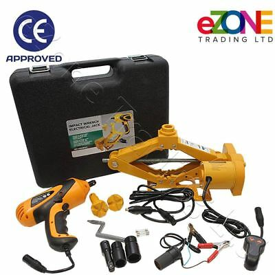 Electric Car Jack with Impact Wrench 2.5 Tonne Vehicle Van SUV 12VDC CE Approved