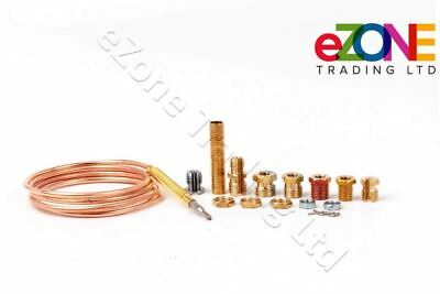Universal Gas Thermocouple 900mm Complete Kit for Gas Boilers Fires Ovens