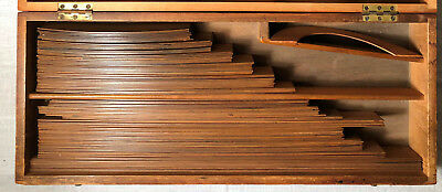 Antique STANLEY London Pearwood Drafting Curve Set Railroad Curves # 6 ½ to 240