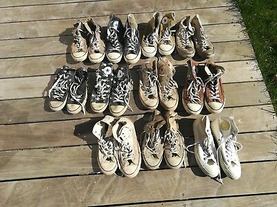 Well worn used CONVERSE  size 10 to 11