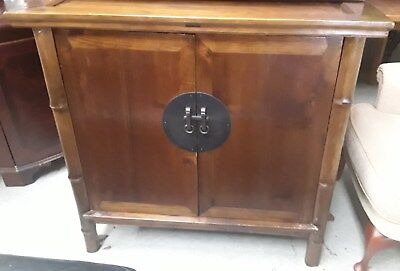 antique chinoiserie style cupboard solid woodcan deliver